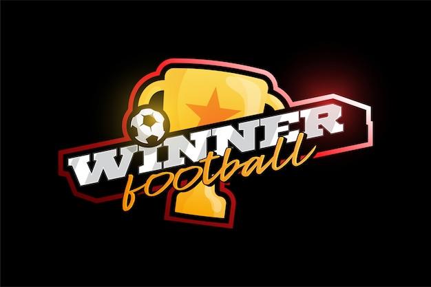 Logo piłki nożnej zwycięzca 2020