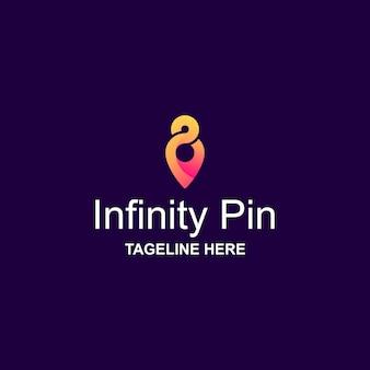 Logo pin infinity