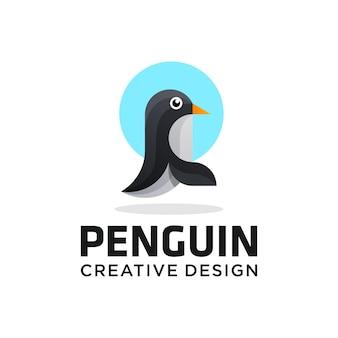 Logo pingwina, najlepsza jakość, fototapeta, plakat, naklejka.