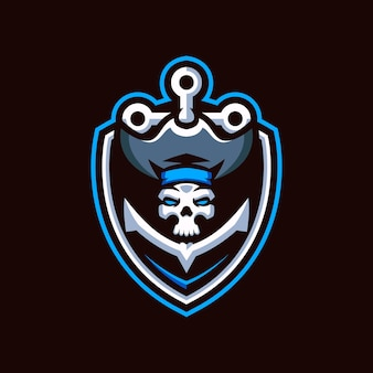 Logo piratów skull esports