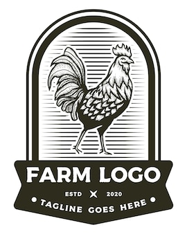 Logo plakietki rooster farm