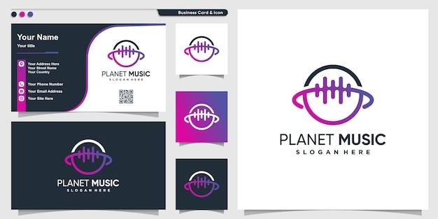 Logo planety z nowoczesną koncepcją kreatywną premium wektor