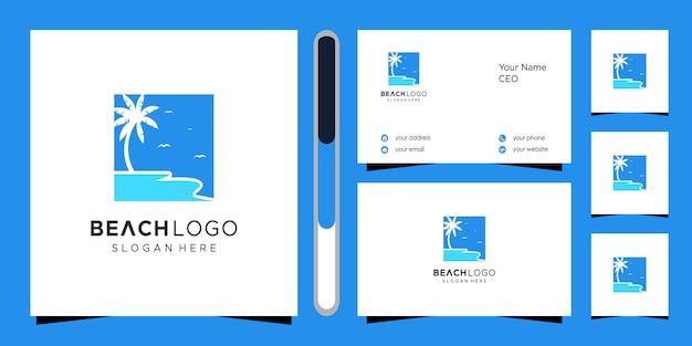 Logo plaży i wizytówka