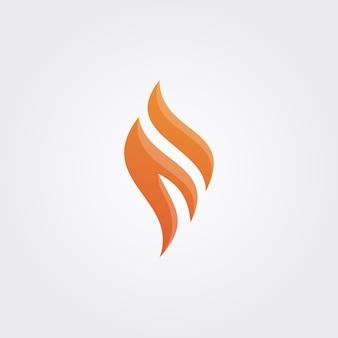 Logo płomienia litery f.