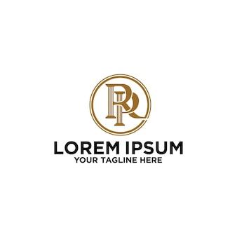 Logo początkowe rp rp list firma biuro marka branding tożsamość firma korporacyjna
