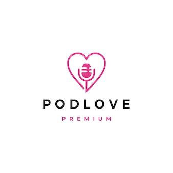 Logo podcastu mikrofonu miłości