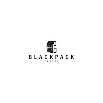 Logo podróży blackpack