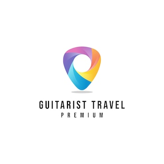 Logo podróży gitarzysty