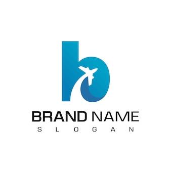 Logo podróży litery b.