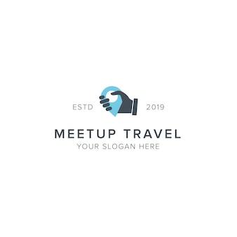 Logo podróży meetup