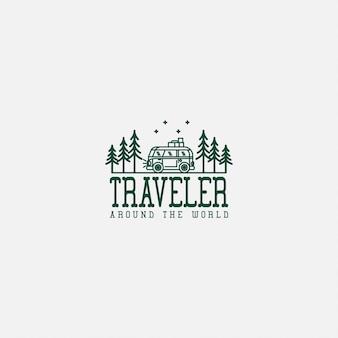 Logo podróży premium