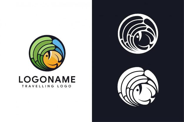 Logo podróży ryb
