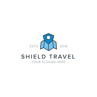 Logo podróży shield