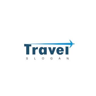 Logo podróży z symbolem samolotu