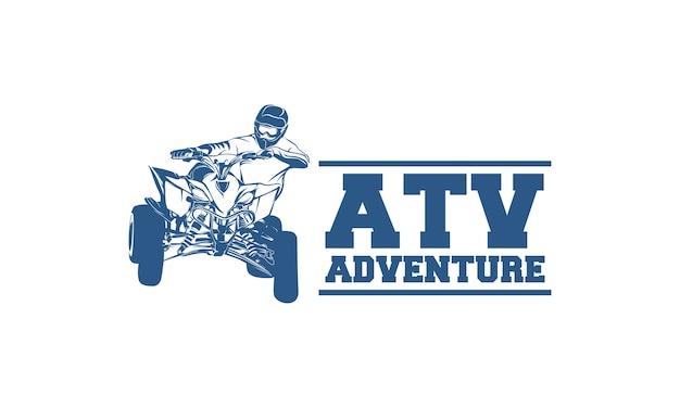 Logo pojazdu atv i emblematy