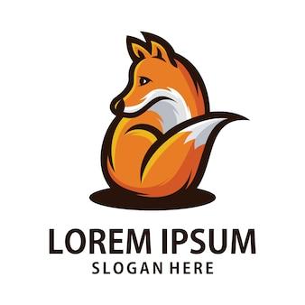 Logo pomarańczowego lisa
