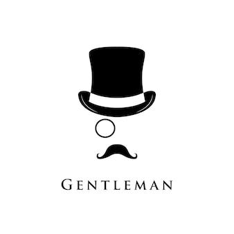 Logo portretu dżentelmena.
