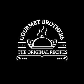 Logo posiłku w restauracji retro
