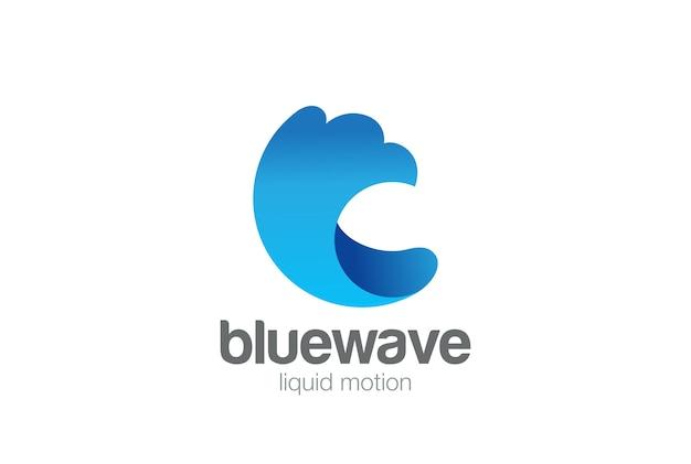 Logo powitalny fali wody.