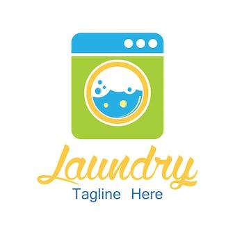 Logo pralni z miejscem na tekst dla twojego sloganu