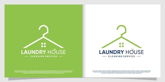 Logo pralnia z kreatywnym stylem elementów premium wektorów część 1