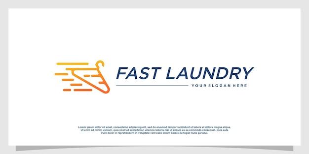 Logo pralnia z kreatywnym stylem elementu premium wektorów 4