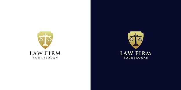 Logo prawa w stylu tarczy