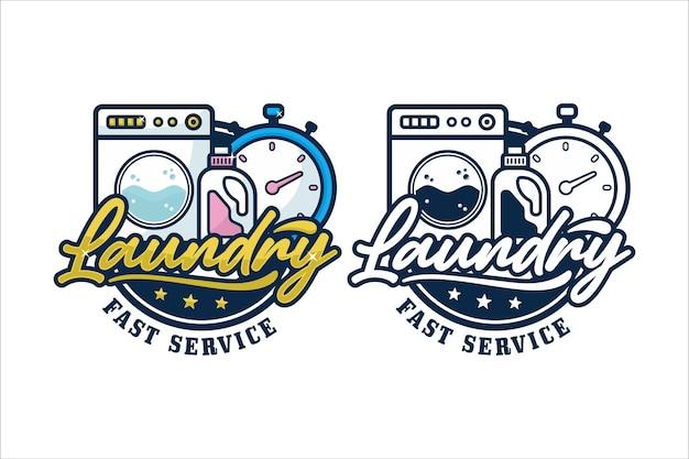 Logo premium szybkiej usługi pralni