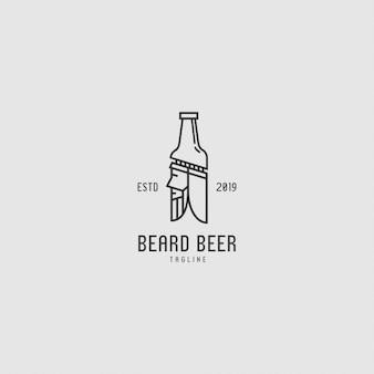 Logo premium z butelką i ludźmi