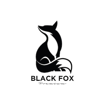Logo premium z czarnego lisa
