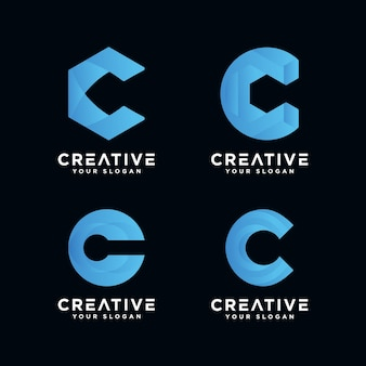 Logo premium z monogramem litera c dla firmy.