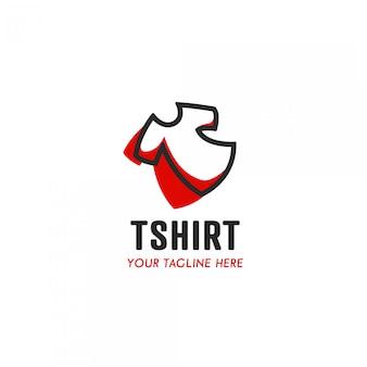 Logo producenta koszulki z prostym, wygodnym i wygodnym symbolem ikony na koszulce