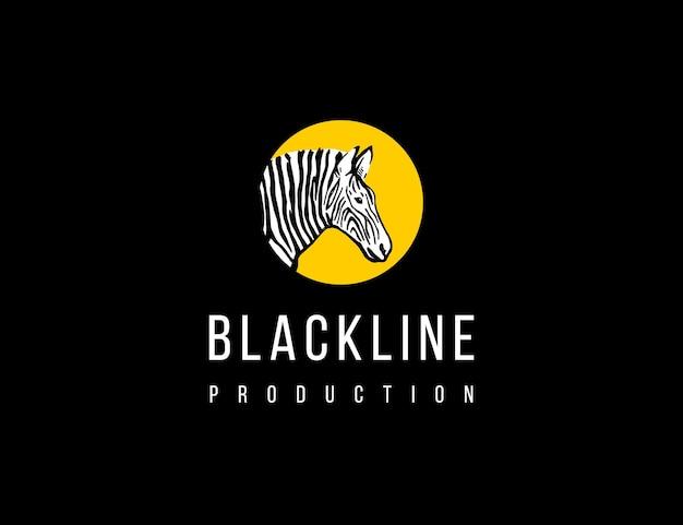 Logo produkcji zebry w stylu vintage