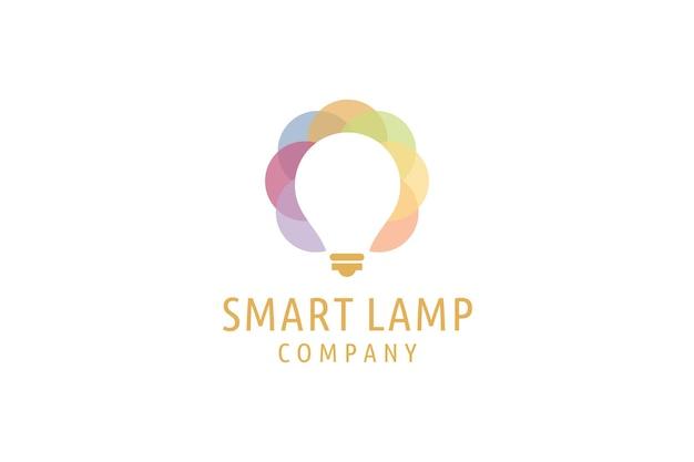 Logo projekt symbol nowoczesne kreatywne pomysły logo żarówki smart people