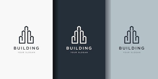 Logo projektu budynku w stylu grafiki liniowej.