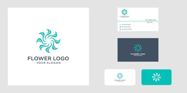Logo projektu kwiatowego logo może być używane w butiku do dekoracji salonu piękności spa