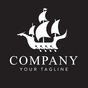 Logo projektu statku vintage dla biznesu