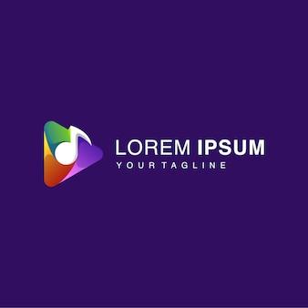 Logo przycisku gradient play