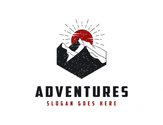 Logo przygoda krajobraz górski