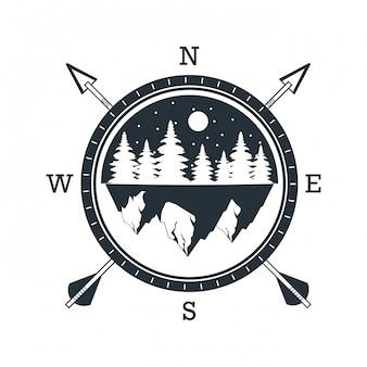 Logo przygody na świeżym powietrzu