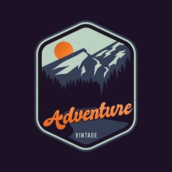Logo przygody w stylu vintage