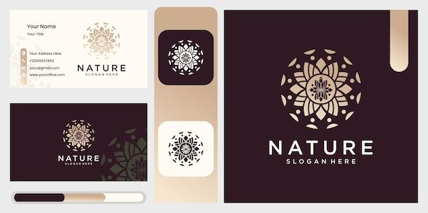 Logo przyrody i wizytówki