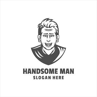 Logo przystojny mężczyzna
