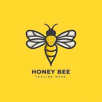 Logo pszczoły miodnej