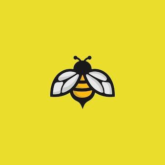 Logo pszczoły na żółto