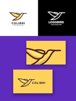 Logo ptaka colibri monoline
