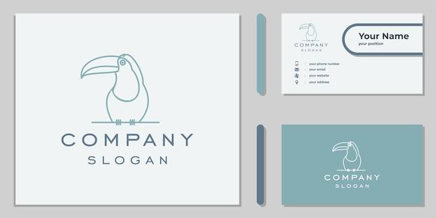Logo ptaka dzioborożca linii sztuki dla firmy