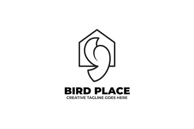 Logo ptaka monoline