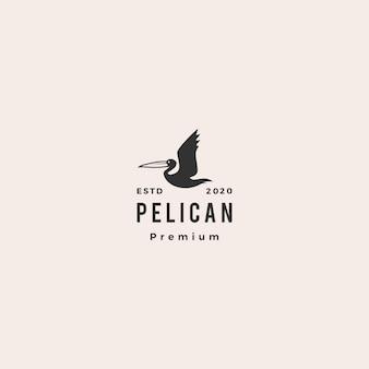 Logo ptaka zatoka pelikana