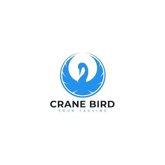 Logo ptaka żurawia